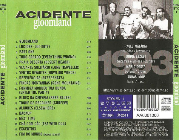 Gloomland back cover